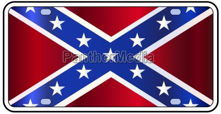 rebel flag license plate