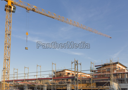construction of an apartment building germany