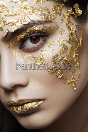 closeup girl beauty portrait