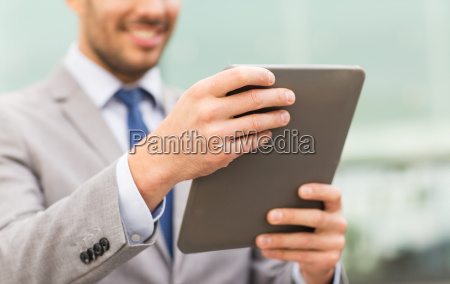 close up of business man with
