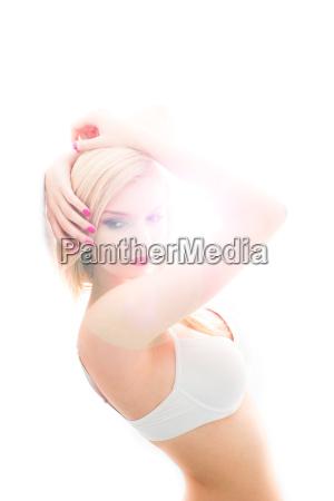 sexy woman iwearing a bra in