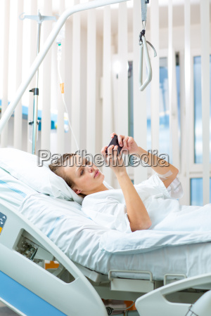 pretty young female patient in a