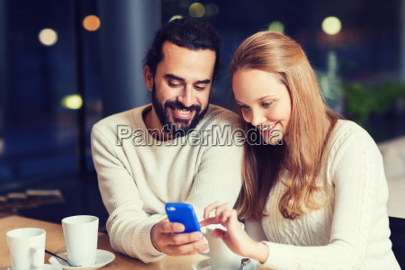 happy couple with tablet pc and