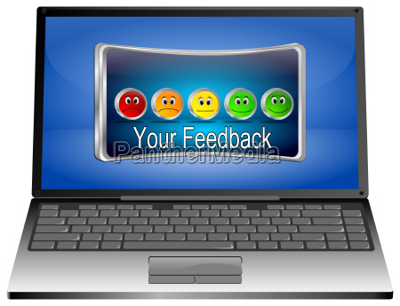 laptop computer with your feedback button