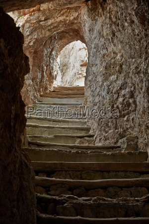 tunnel in stone
