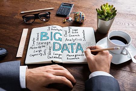 businessperson working on big data concept