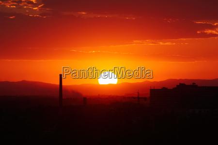sunset in plovdiv
