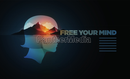 free your mind vector poster template