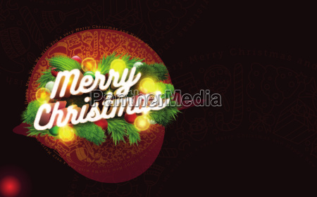 vector christmas card design template 3d