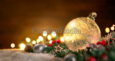 transparent christmas ball and christmas decoration