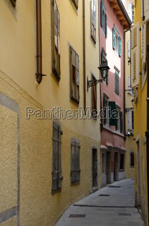 narrow street in trieste italy