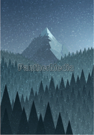 abstract nature landscape mountain and forest