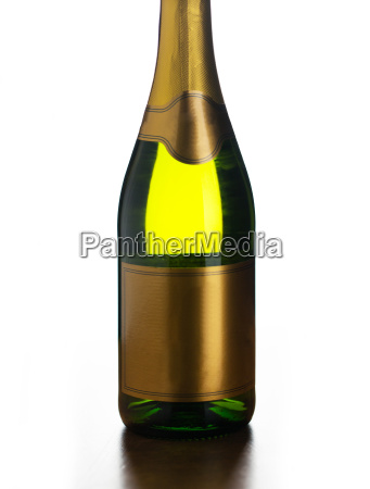 close up of champagne bottle with