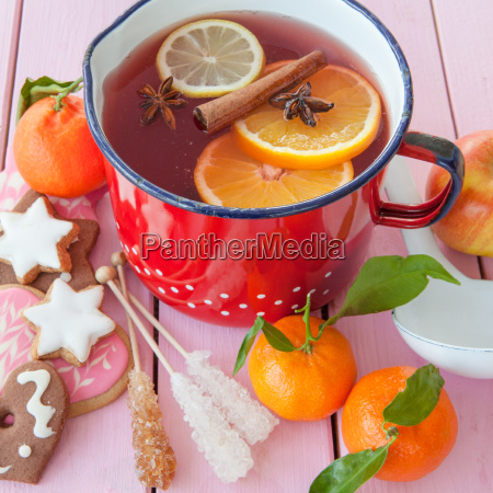 winter punch with oranges