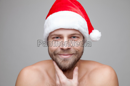 handsome man with beard wearing a