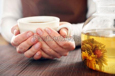 tearoom aromatic brew of green tea