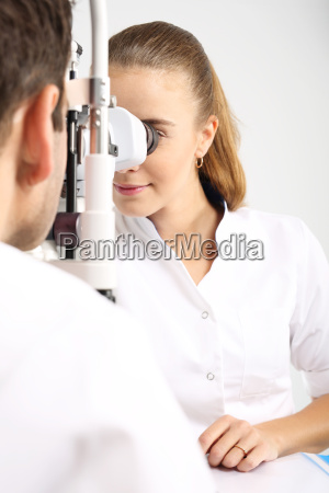 an ophthalmic clinic a young attractive