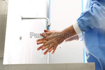 surgical hand disinfection a doctor washes