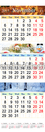 november december 2017 and january 2018