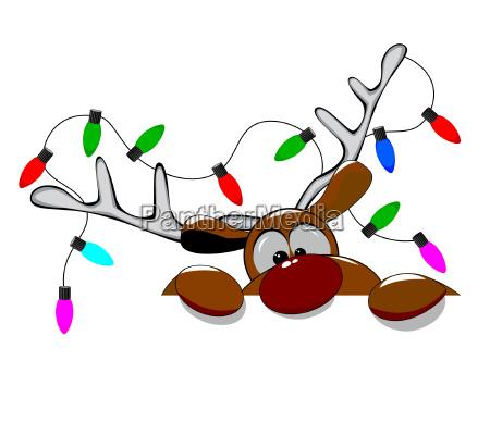 cute christmas reindeer rudolph 1