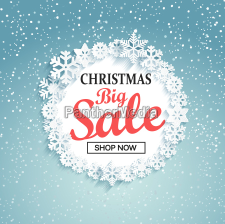 concept of christmas big sale vector