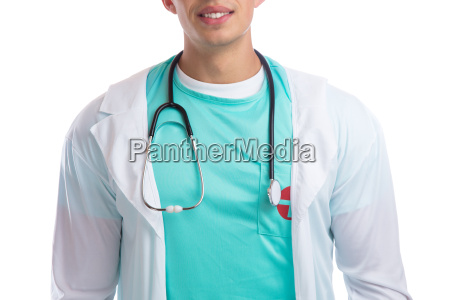 young doctor doctor with stethoscope heart