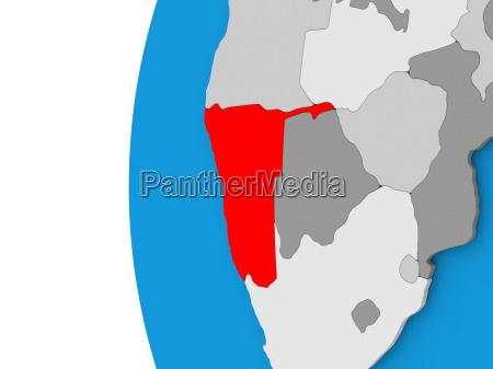namibia on globe