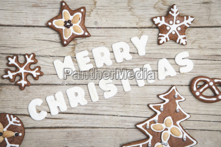 christmas gray wood background with merry
