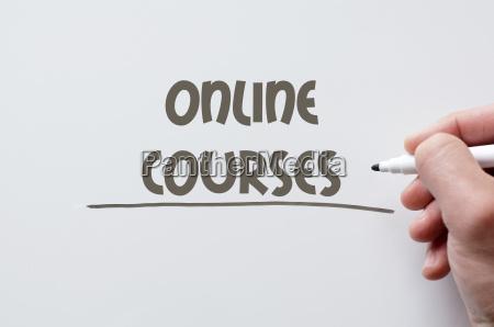 online courses written on whiteboard