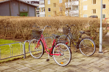 bicycle on parking