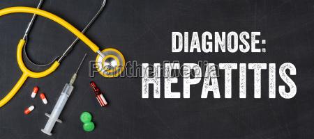 stethoscope and medicines hepatitis