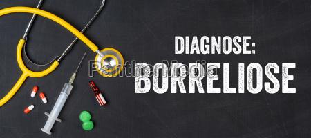 stethoscope and medication borreliosis