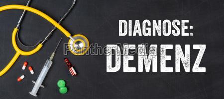 stethoscope and medicines dementia