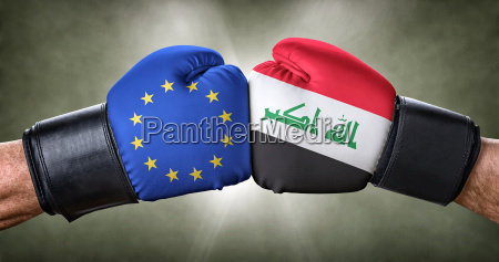 fight fighting conflict europe confrontation flag