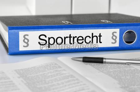 file folder with the inscription sportrecht