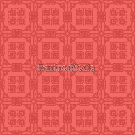 red ornamental seamless line pattern endless