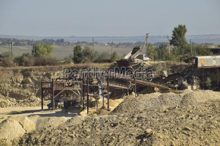 large quarry for gravel mining sand