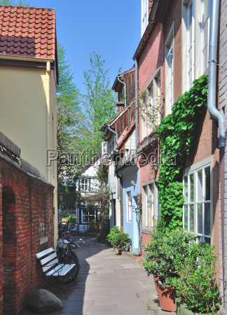 in schnoor alstadt in hanseatic city