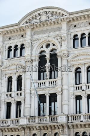 detail of city hall trieste