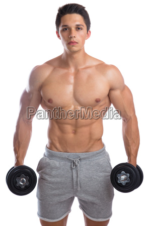 bodybuilder bodybuilding muscles training dumbbells man