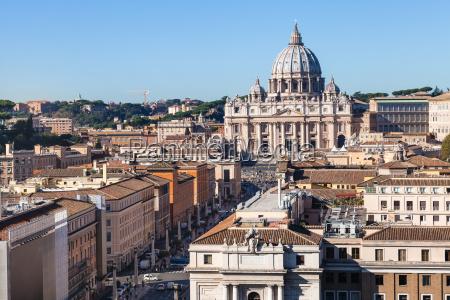 st peters basilica and street via