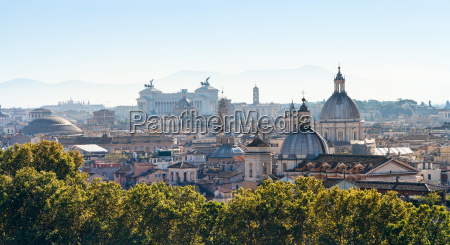 panorama of rome city in side