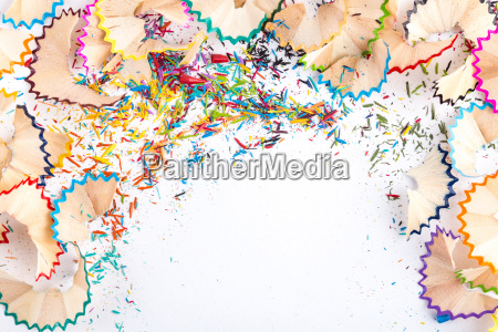 being creative with pencil shavings