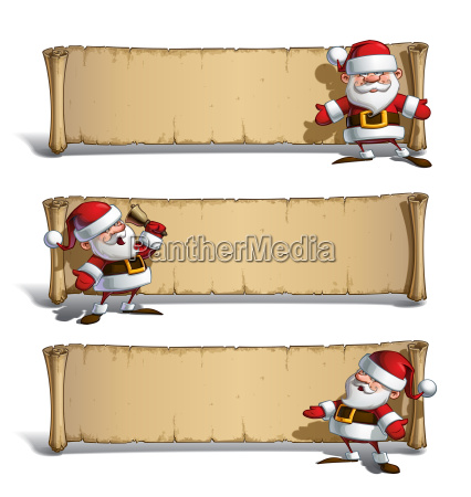 happy santas papyrus announcing set