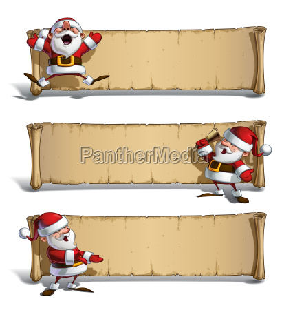 happy santas papyrus celebrating