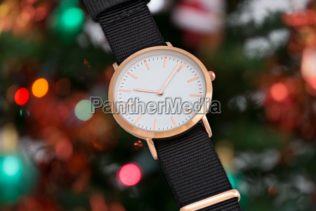 black nylon strap wrist watch in