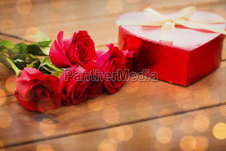 close up of heart shaped gift