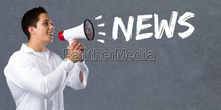 news news news headline concept megaphone