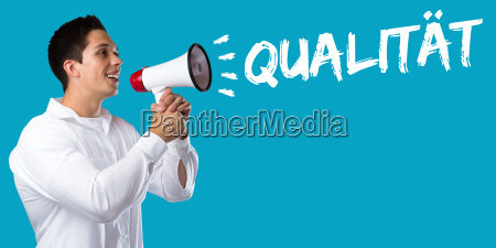 business concept with quality success qm