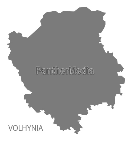 volhynia ukraine map grey